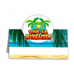 Marque place Vive la Retraite x 6 Déco festive CD3287