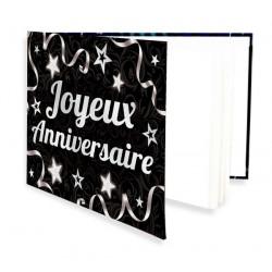 Livre d'Or de mon Anniversaire argenté 20 pages Déco festive CD4118