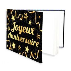 Livre d'Or Joyeux Anniversaire doré 20 pages Déco festive B14546