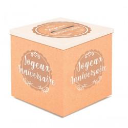 Urne carton kraft Joyeux Anniversaire Déco festive CD4581