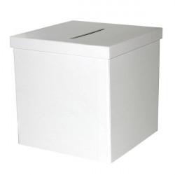 Urne pliable blanche 20 cm Déco festive 823BL