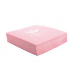 Serviettes roses en papier princesse x 20 Déco festive 837RO