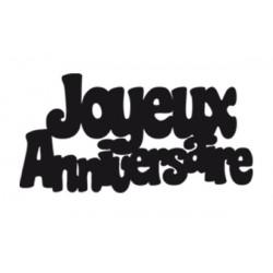 Confettis géants Joyeux Anniversaire x 20 noir Déco festive CD1386