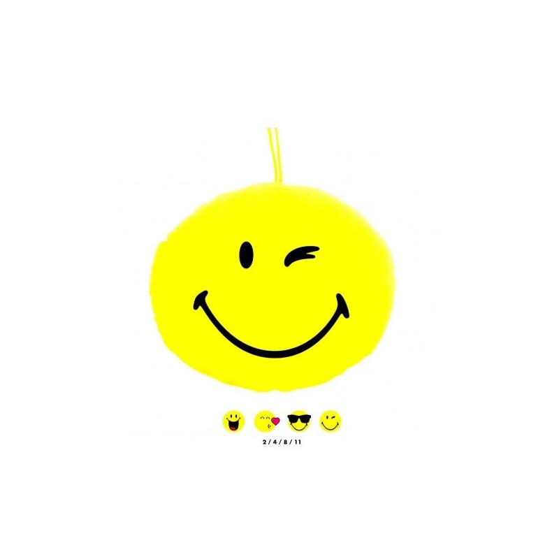 Peluche coussin smiley 21 cm Jouets et articles kermesse 88906