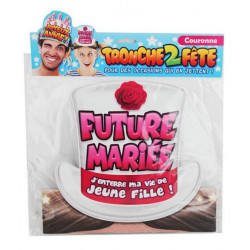 Couronne carton enterrement vie Future Mariée Accessoires de fête B13247
