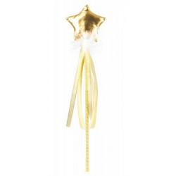 Baguette fée dorée Accessoires de fête 90869G