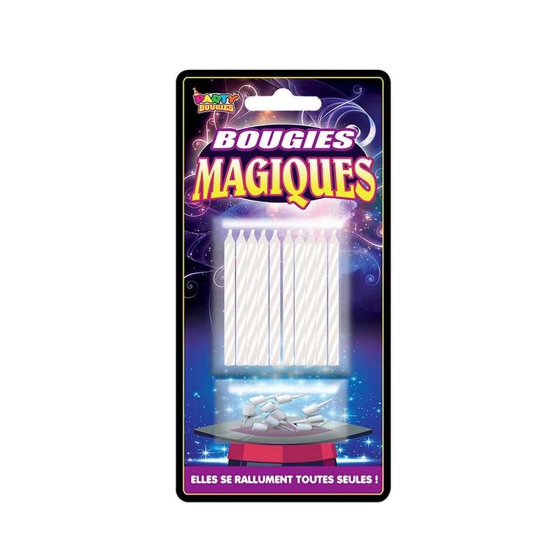Bougies magiques x 10 Déco festive B13307