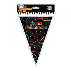 Guirlande fanions Joyeux Anniversaire 5,5 m Déco festive CD1556