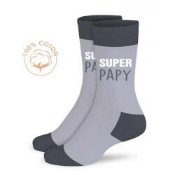 Chaussettes fantaisie Super Papy Accessoires de fête CD5297_03