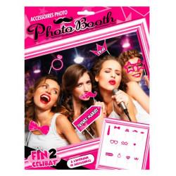 Kit accessoires photobooth EVJF 12 pièces Accessoires de fête CD3660