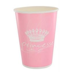 Gobelets jetables roses princesse x 10 Déco festive 886RO