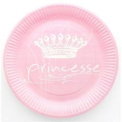 Assiettes jetables roses princesse x 10 Déco festive 885RO