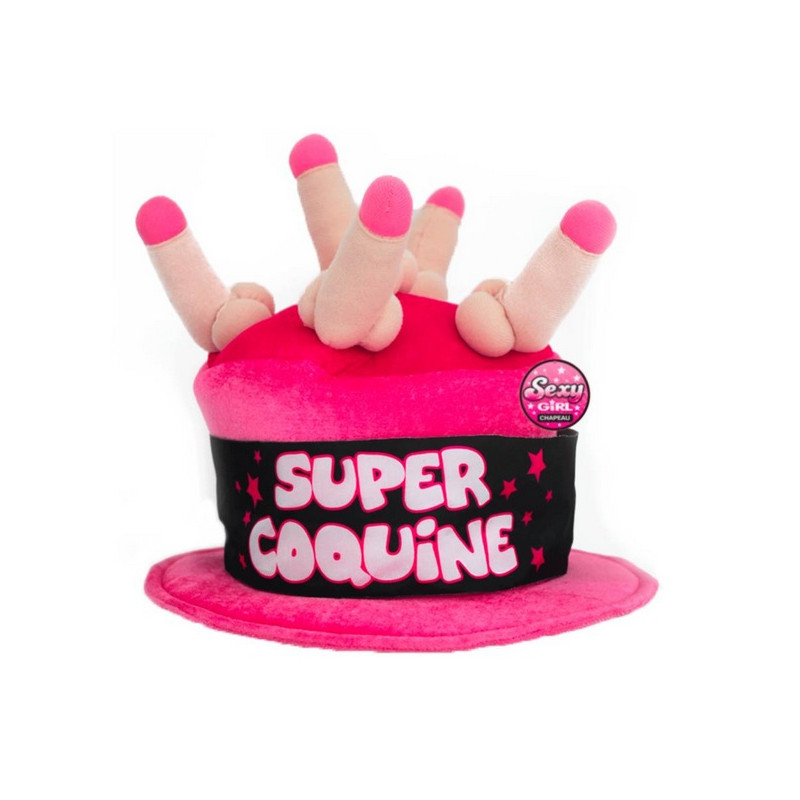 Chapeau fuchsia Super Coquine adulte Accessoires de fête B13381