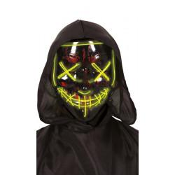 Masque plastique noir lumineux Accessoires de fête 1152