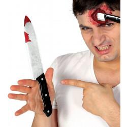 Couteau ensanglanté 30 cm Accessoires de fête 17521