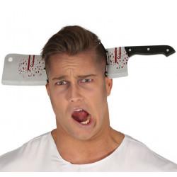 Serre-tête couteau de boucher ensanglanté Accessoires de fête 26153
