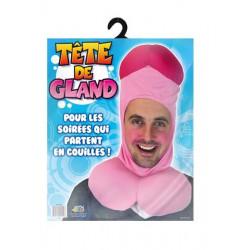 Cagoule humoristique tête de gland adulte Accessoires de fête B11635