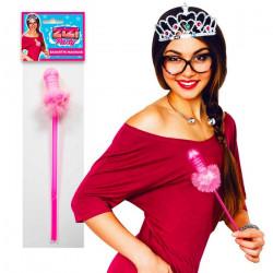 Baguette magique rose fée zizi Accessoires de fête B14552