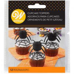 Décoration gâteau topper araignée x 12 Déco festive 2113-4143