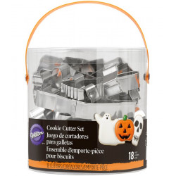Kit 18 emporte-pièces métal Halloween Wilton Cake Design 2308-2014