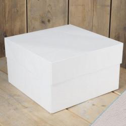 Boîte à gâteau blanche 40x40x15cm Cake Design FC0907