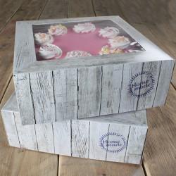 Boîte à gâteau Pure 26x26x12cm 2 pièces Cake Design FC1125