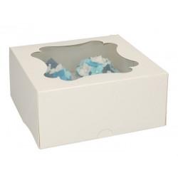 Boîte blanche pour 4 cupcakes x 3 Cake Design FC1204