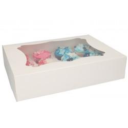 Boîte blanche pour 12 cupcakes x 3 Cake Design FC1208