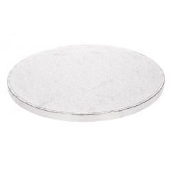 Support pour gâteau rond argent 25 cm Cake Design FC525RD