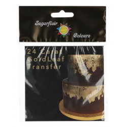 Feuille d'or alimentaire 24 carats Sugarflair Cake Design G101