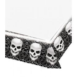 Nappe plastique halloween têtes de mort Déco festive 571158