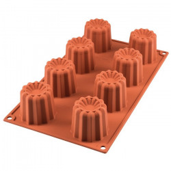 Moule silicone 8 cannelés Silikomart Cake Design SF050