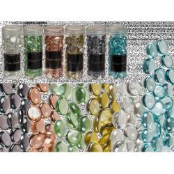 Pierres décoratives en verre coloré 400g Déco festive 100058