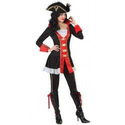 Déguisements, Déguisement Capitaine Pirate femme taille XS-S, 22915, 26,90€