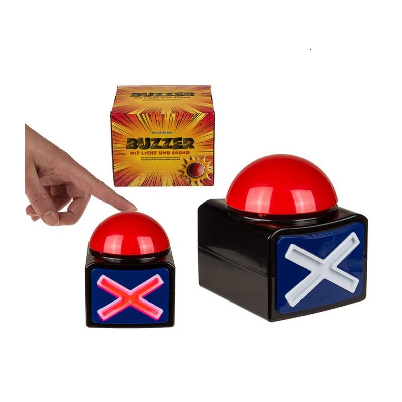 Bouton buzzer à led lumineux et sonore Accessoires de fête 601147