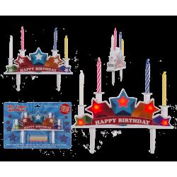 Cake topper Happy Birthday LED et musique Déco festive 620898