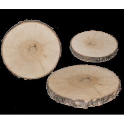 Rondin décoratif en bois 15 cm Déco festive 960407