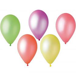 Sachet 10 ballons fluorescents 30 cm multicolores Déco festive BA19402