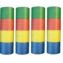 Lot 4 rouleaux de 20 serpentins multicolores Déco festive 22930