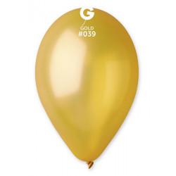 Ballons x 100 diamètre 30 cm métallisés Or Déco festive BA19600/OR