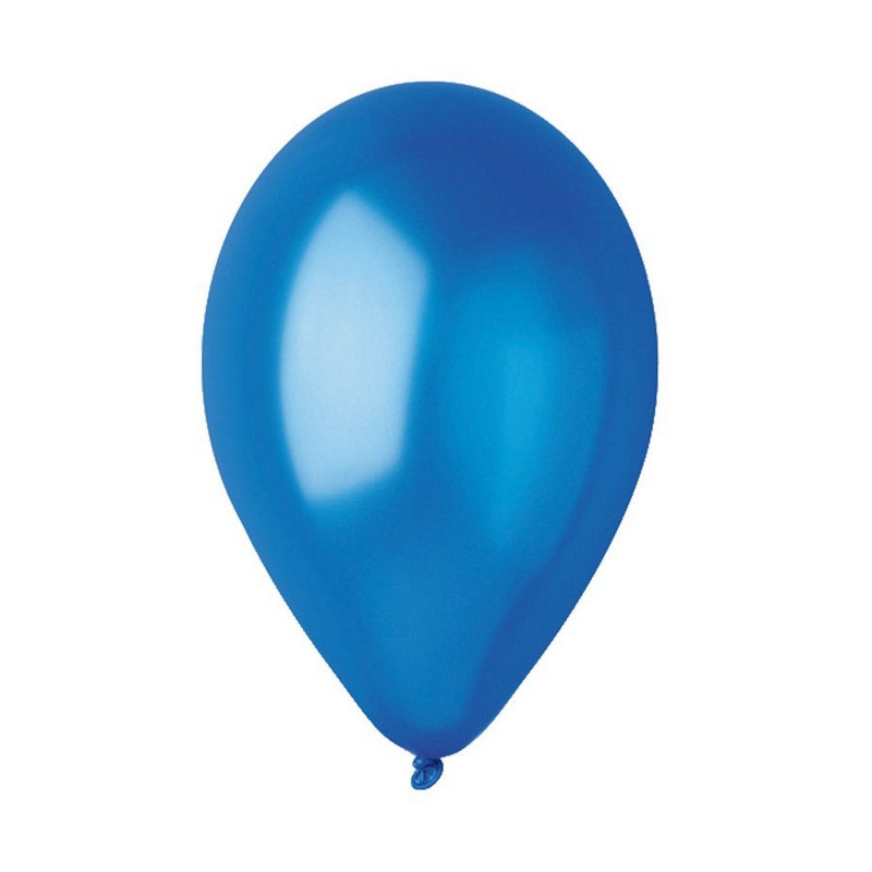 Sachet 50 ballons métallisés 30 cm bleu roi Déco festive BA19602/BLEUROI