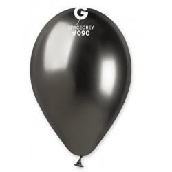 Sachet 4 ballons métallisés gris brillant 33 cm Déco festive BA19992/GRIS