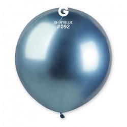 Sachet 1 ballon métallisé bleu brillant 48 cm Déco festive BA19991/BLEU