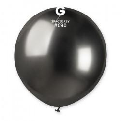Sachet 1 ballon métallisé gris sidéral brillant 48 cm Déco festive BA19991/GRIS