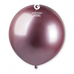 Sachet 1 ballon métallisé rose brillant 48 cm Déco festive BA19991/ROSE