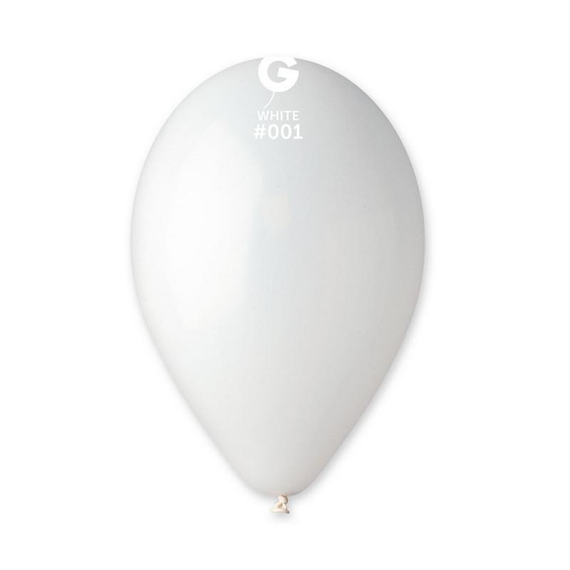 Ballons x 100 diamètre 30 cm blanc Déco festive BA19100/BLANC