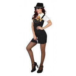 Déguisements, Déguisement gangster sexy femme taille M/L, 22948, 25,90€