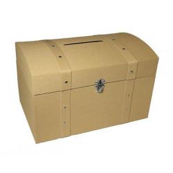 Coffre pirate 4 dimensions au choix Déco festive 1700062