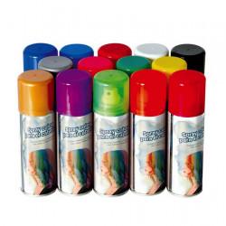 Bombe spray cheveux 125 ml rouge Accessoires de fête 17016