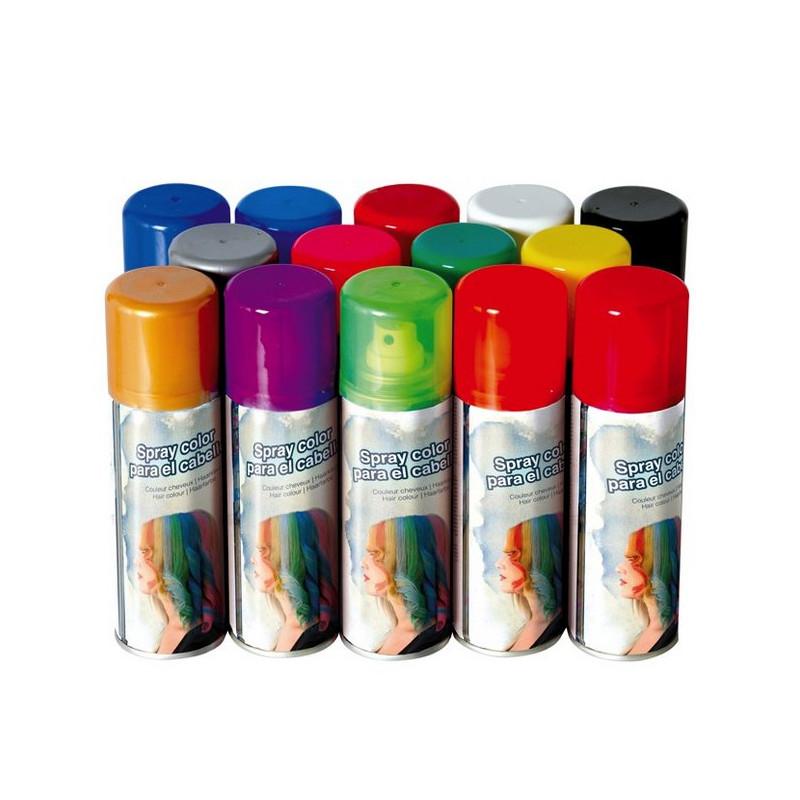 Bombe spray cheveux 125 ml vert Accessoires de fête 17017